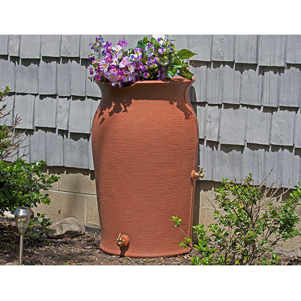 impressions amphora 50 gallon rain barrel