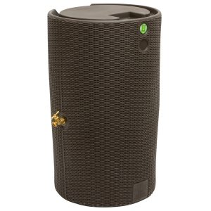 impressions bali 50 gallon rain barrel dark brown