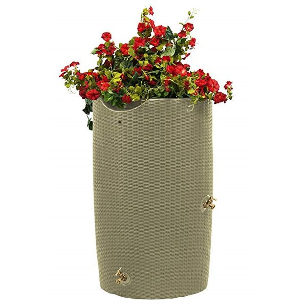 impressions bali 50 gallon rain barrel dessert sand flowers