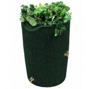 impressions bark 50 gallon rain barrel green