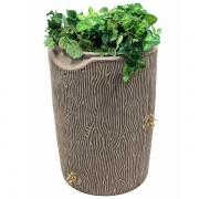 impressions bark 50 gallon rain barrel khaki