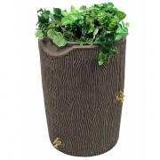 impressions bark 50 gallon rain barrel oak