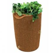 impressions bark 50 gallon rain barrel terra cotta