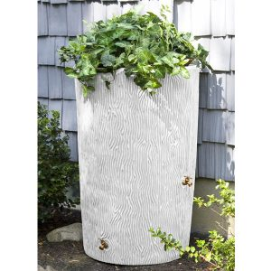 Impressions Bark 90 Gallon Rain Barrel