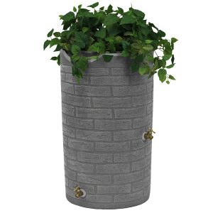 Impressions Downton 50 Gallon Rain Barrel planter