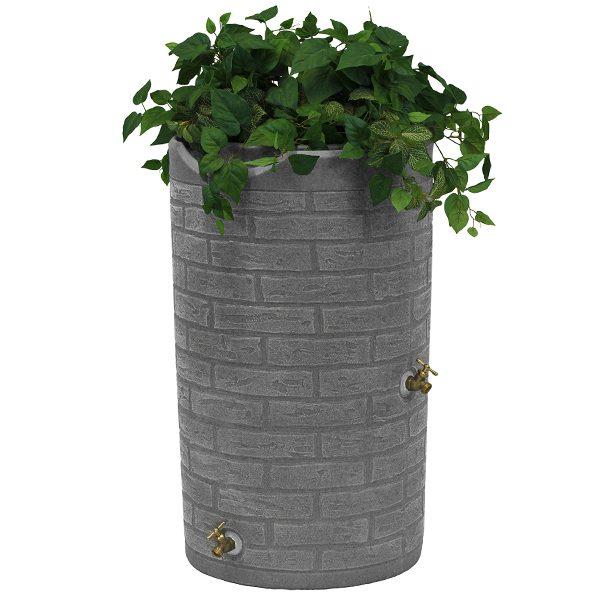 Impressions Downton 50 Gallon Rain Barrel planter