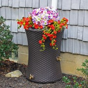 Impressions Nantucket 50 Gallon Rain Barrel planter