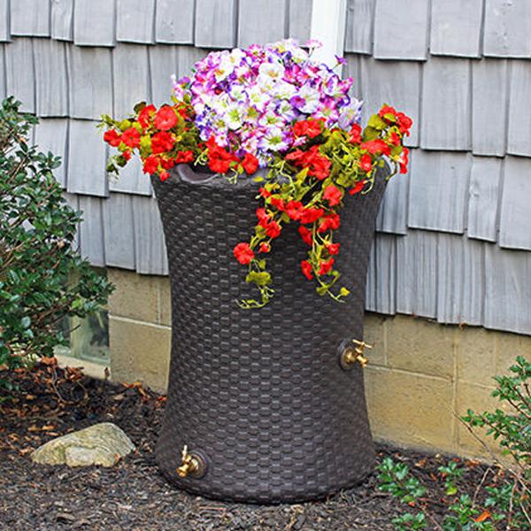 Impressions Nantucket 50 Gallon Rain Barrel Recycled Rain Barrels