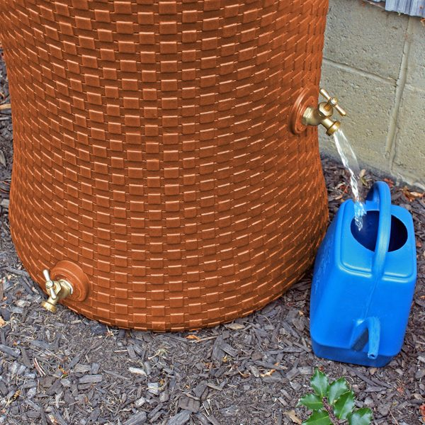 Impressions Nantucket 50 Gallon Rain Barrel spigots