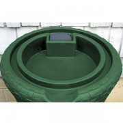Impressions Nantucket 50 Gallon Rain Barrel top green