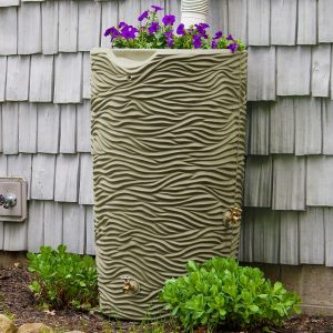 Impressions Palm 50 Gallon Rain Barrel front