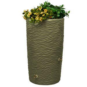 Impressions Palm 50 Gallon Rain Barrel khaki