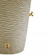 Impressions Palm 50 Gallon Rain Barrel spigots sandstone