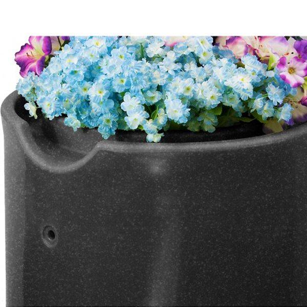 Impressions Reflections 50 Gallon Rain Barrel planter