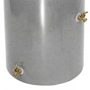 Impressions Reflections 50 Gallon Rain Barrel spigots light granite