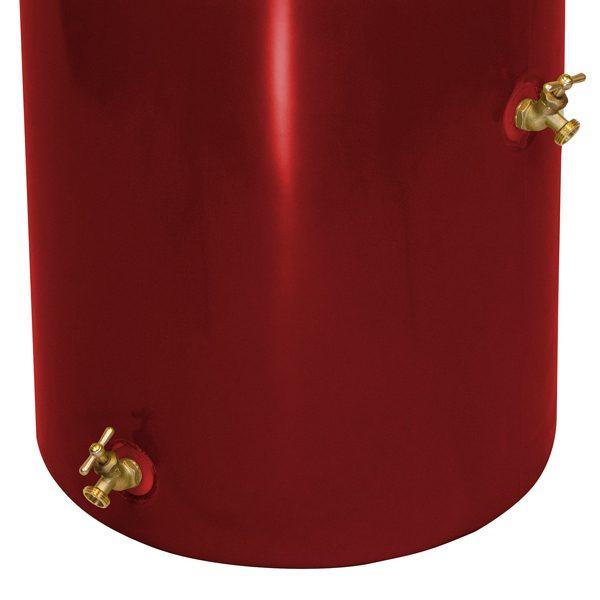 Impressions Reflections 50 Gallon Rain Barrel spigots marsala