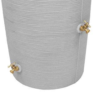 Impressions Stone 50 Gallon Rain Barrel spigots