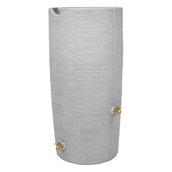 Impressions Stone 50 Gallon Rain Barrels front