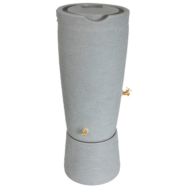 Impressions Stone 50 Gallon Rain Barrels with stand