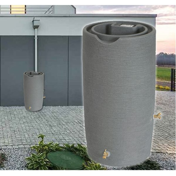 Impressions Stone 65 Gallon Rain Barrel