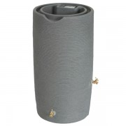 Impressions Stone 65 Gallon Rain Barrel front