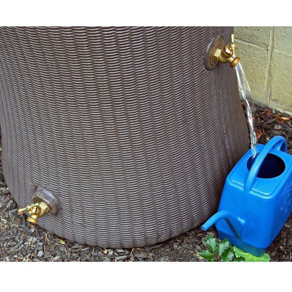 Impressions Willow 65 Gallon Rain Barrel spigots