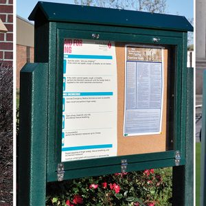medium hinged message board