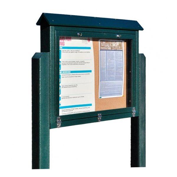 medium hinged message board green