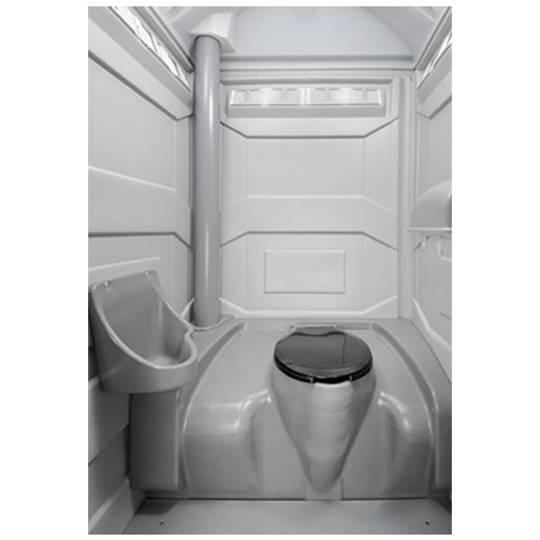 PJP3 All Plastic Front Portable Toilet interior