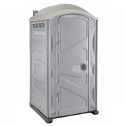 PJP3 All Plastic Front Portable Toilet lite gray