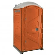 PJP3 All Plastic Front Portable Toilet orange