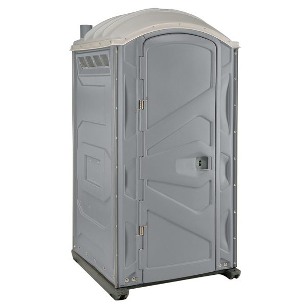 PJP3 All Plastic Front Portable Toilet Pewter