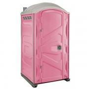 PJP3 All Plastic Front Portable Toilet pink