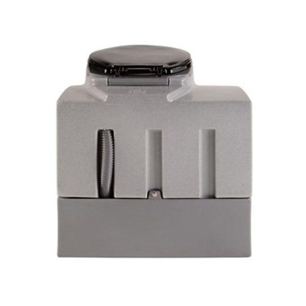 portable mini flush toilet back