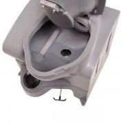 portable mini flush toilet inside tank