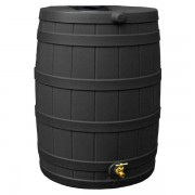 Rain Wizard 40 Gallon Rain Barrel -black