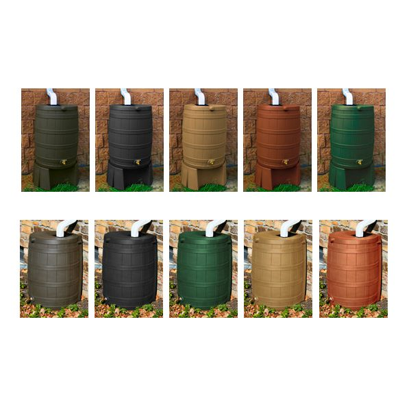 Rain Wizard 40 Gallon Rain Barrel color options