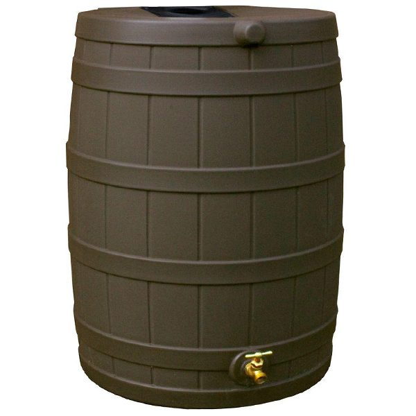 Rain Wizard 40 Gallon Rain Barrel oak