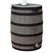 Rain Wizard 40 Gallon Rain Barrel oak ribs