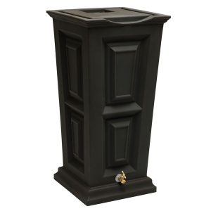 Savannah Flat Top Rain Barrel black
