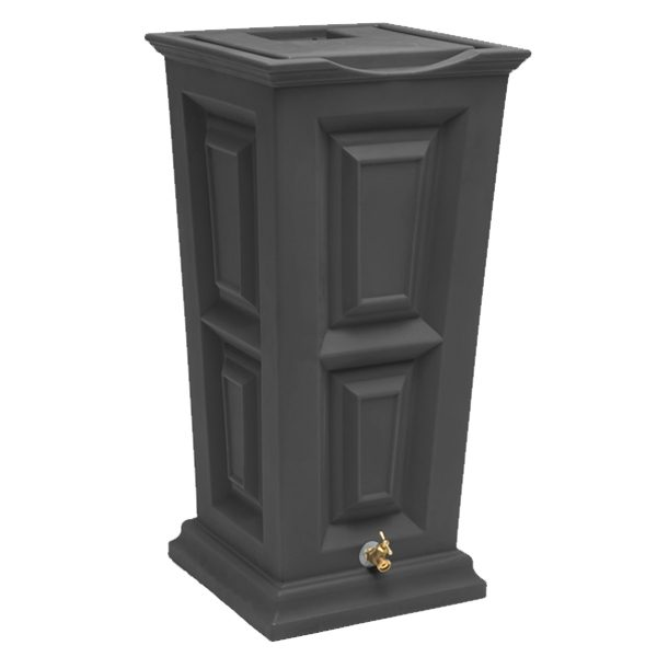 Savannah Flat Top Rain Barrel dark granite