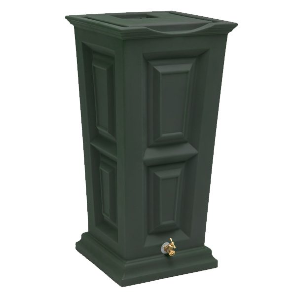 Savannah Flat Top Rain Barrel green