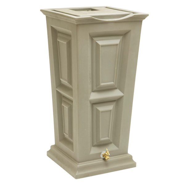 Savannah Flat Top Rain Barrel khaki
