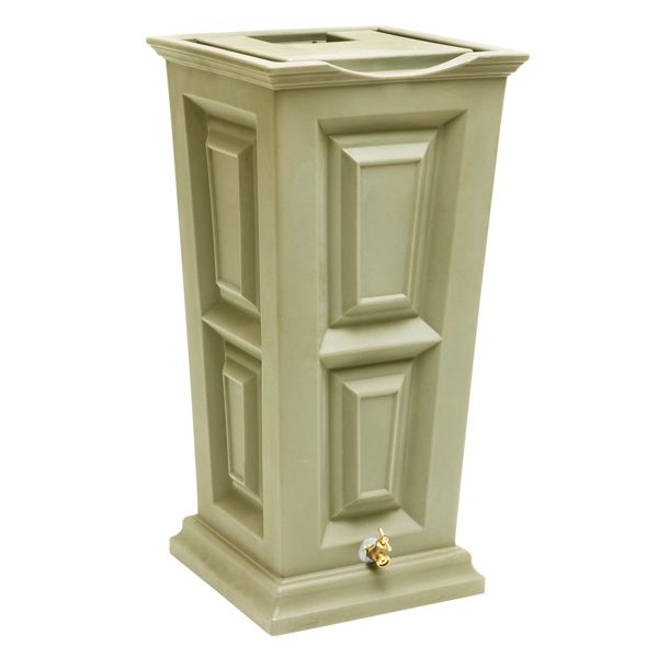 Savannah Flat Top Rain Barrel sandstone