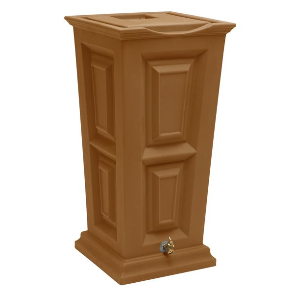 Savannah Flat Top Rain Barrel terra cotta