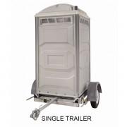 portable toilet single trailer