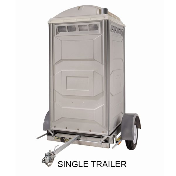 portable toilet single trailer