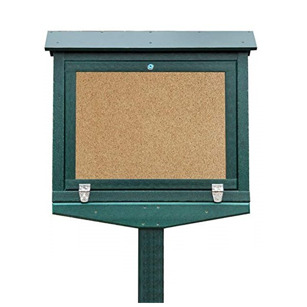 small hinged message board green