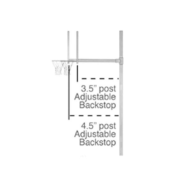 Adjustable Basketball Backstop Diagram