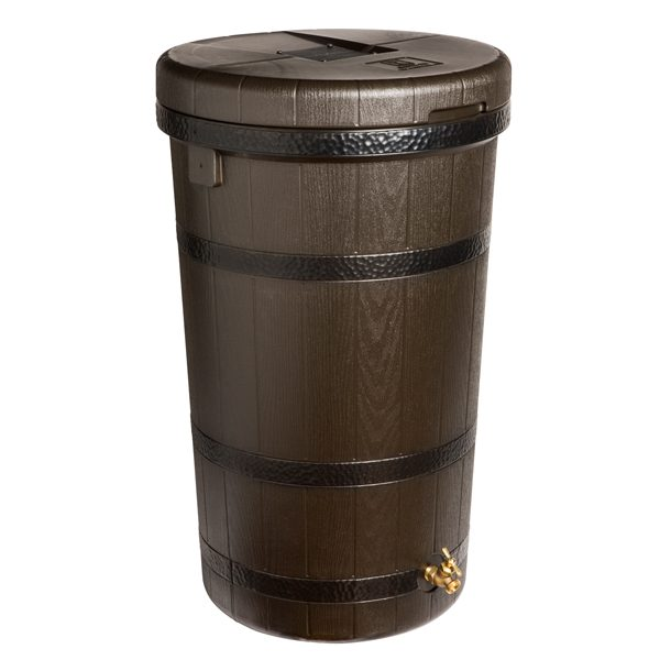 Aspen ECO 50 Gallon Rain Barrel Dark Ribs